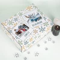 Adventskalender zum Befüllen mit zwei Fotos und Ihren Wunschtexten