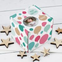 Geschenkbox für kleine Geschenke mit Foto, Name und Text zu Weihnachten