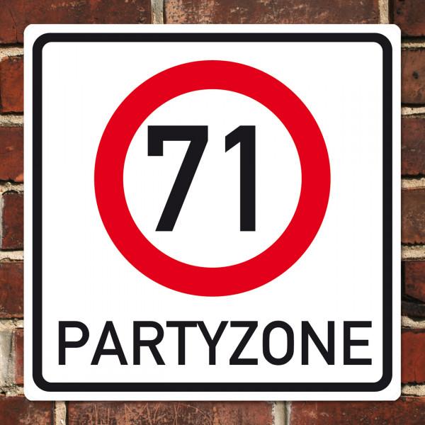 PVC Schild zum 71. Geburtstag