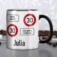 Persönliche Tasse - Achtung 30
