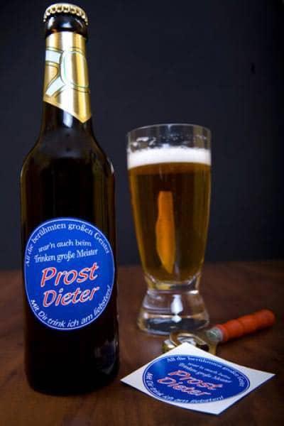 Bieraufkleber mit Wunschname