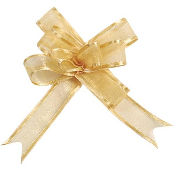 Schleifenbänder aus Organza in Gold