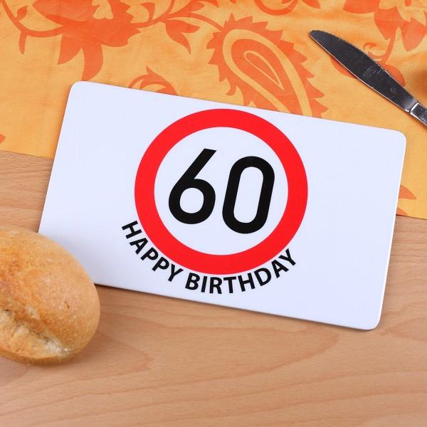 Frühstücksbrett Happy Birthday zum 60. Geburtstag