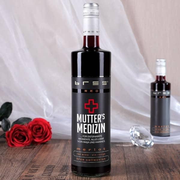 Mutter´s Medizin - Merlot Rotwein mit persönlichem Aufdruck