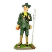 Jägerfigur mit Clip und Fernrohr in der Hand 11cm