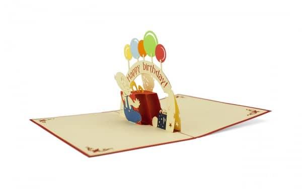 Pop-Up-Glückwunschkarte zum Kindergeburtstag