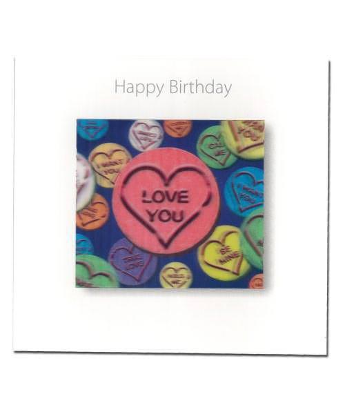 3D Geburtstagskarte mit Love CD