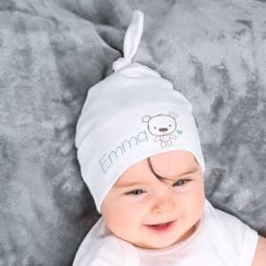 Babymütze mit Name als Druck