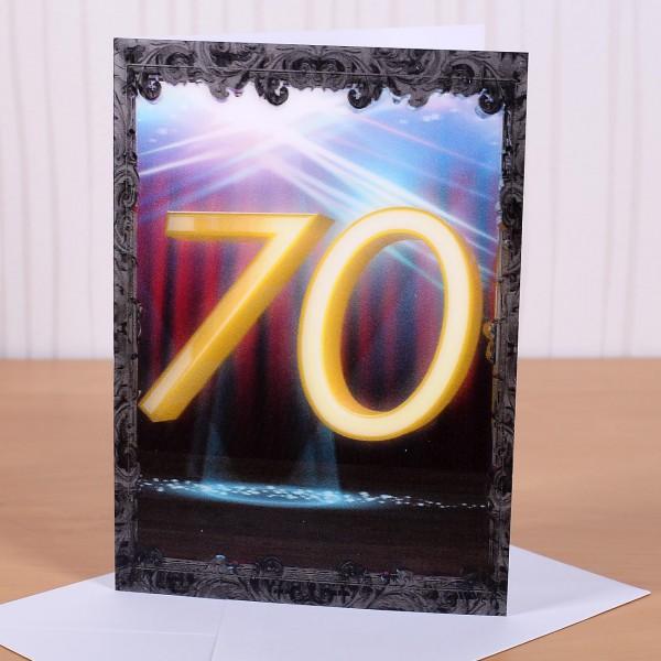 Wackelkarte zum 70. Geburtstag