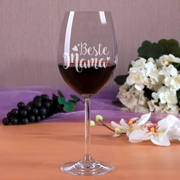 Weinglas ''Beste Mama''