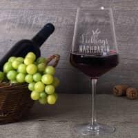 Lieblings... Weinglas mit Wunschgravur