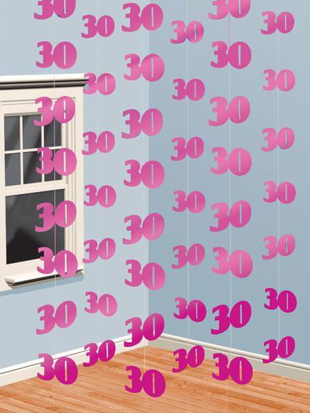 Deko pink zum 30. Geburtstag