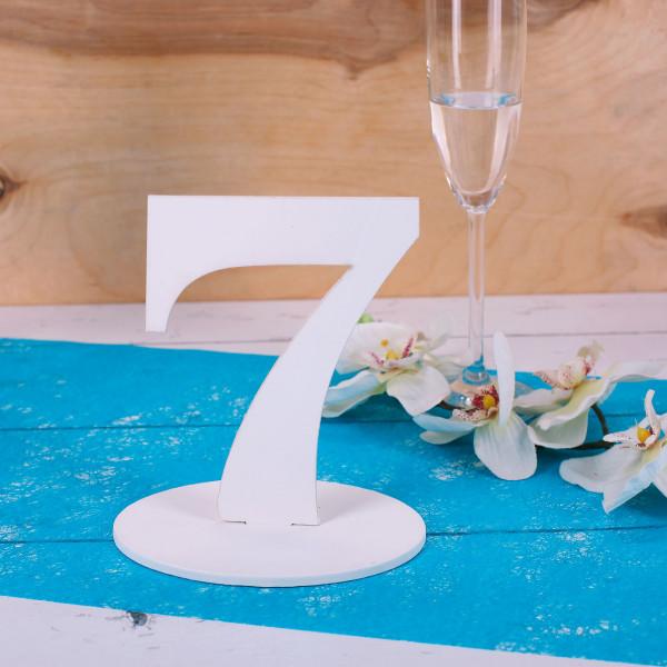 Zahl 7 für Ihre Tischdekoration