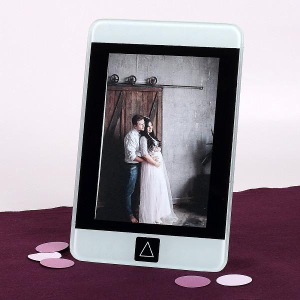 Bilderrahmen aus Glas in Smartphone Optik