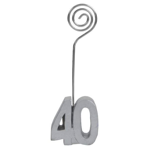 Tischkartenhalter zum 40. Geburtstag