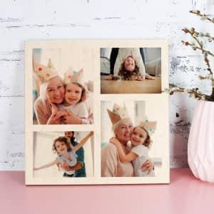 Holzbild mit Fotos bedruckt