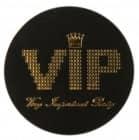 50 Blättchen Konfetti VIP in schwarz / gold