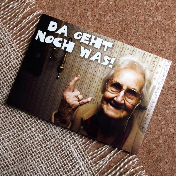 Postkarte Da geht noch was