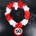 Hawaiikette Verkehrsschild 50