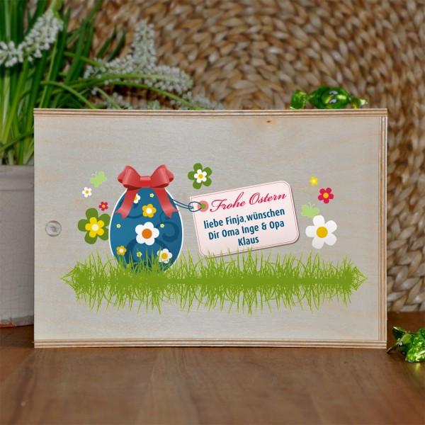 persönliche Geschenkbox zu Ostern aus Holz