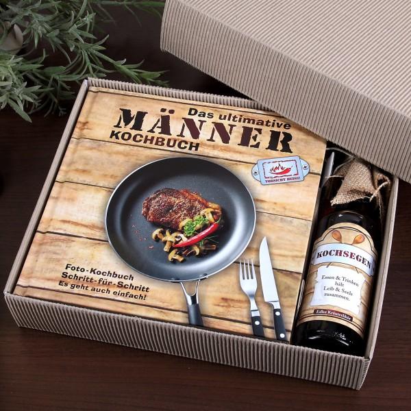 2tlg. Set Männer Kochbuch und Kräuterlikör