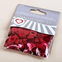 Tischdekoration Konfetti rote Herzen