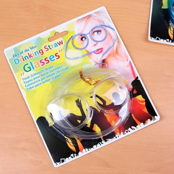 durchsichtige Trinkschlauchbrille