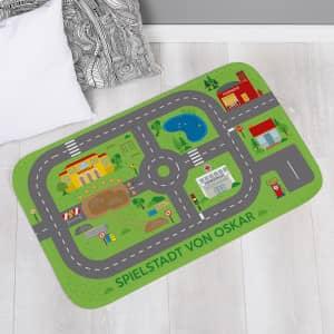 Spielteppich mit Straßen personalisiert