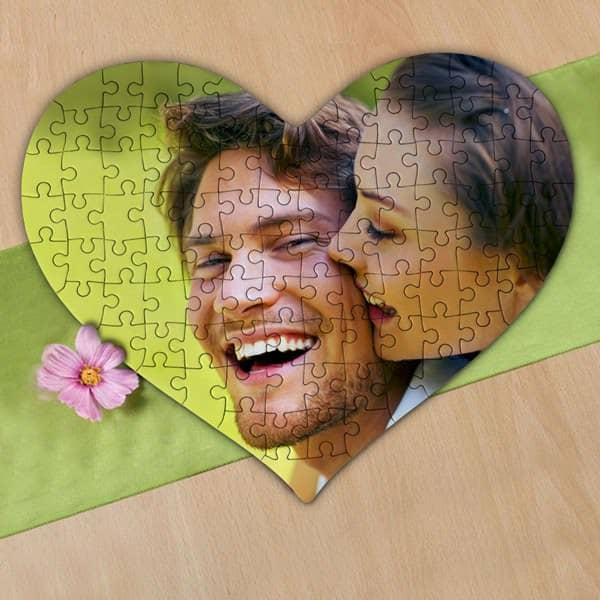 Großes Herz Puzzle mit Foto