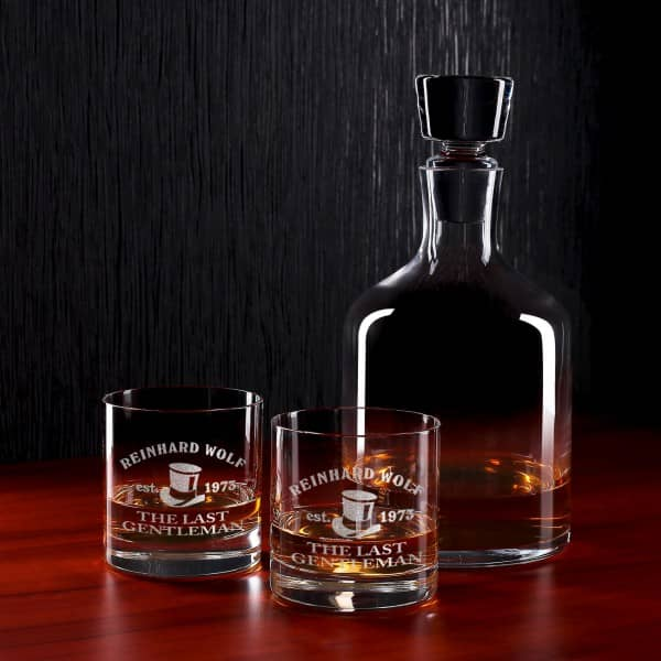 exklusives whisky set von leonardo ambrogio mit gravur. Black Bedroom Furniture Sets. Home Design Ideas