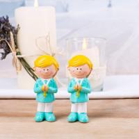 2 Jungen - Figuren zur Kommunion mint