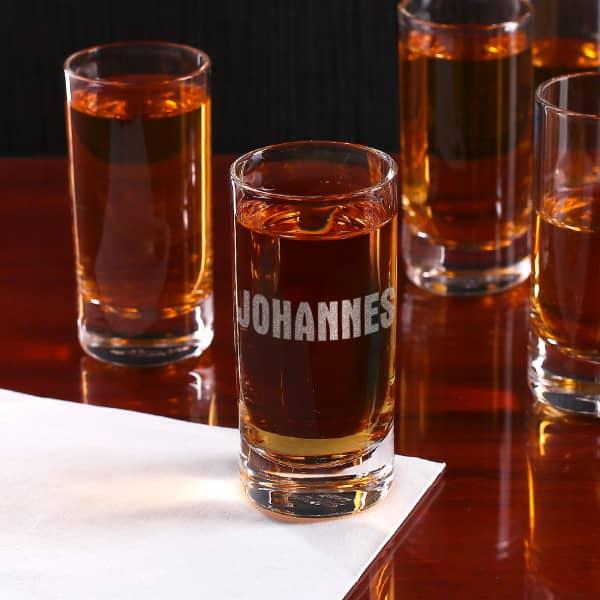 Individuellküchenzubehör - Schlichtes Schnapsglas mit Ihrem Namen - Onlineshop Geschenke online.de