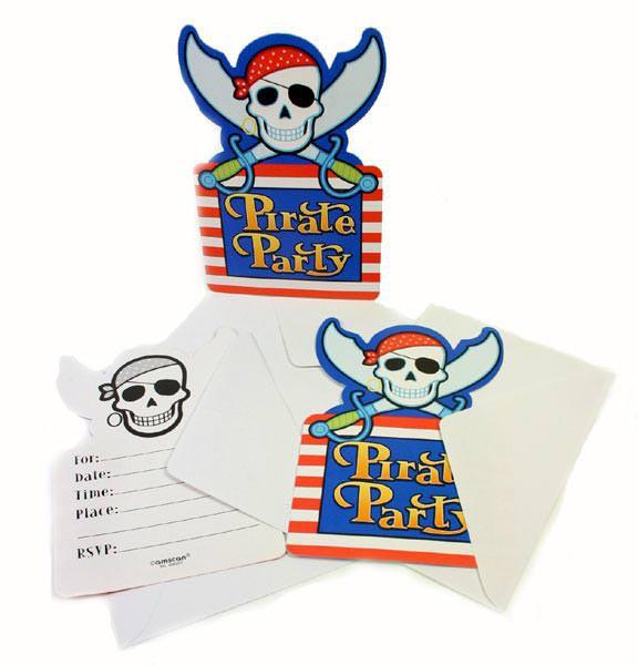 Einladungen zum Kindergeburtstag Pirat