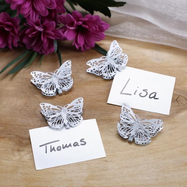 Schmetterlinge mit Klammer im 4er Set