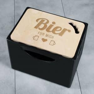 Bierkastendeckel mit personalisierter Gravur