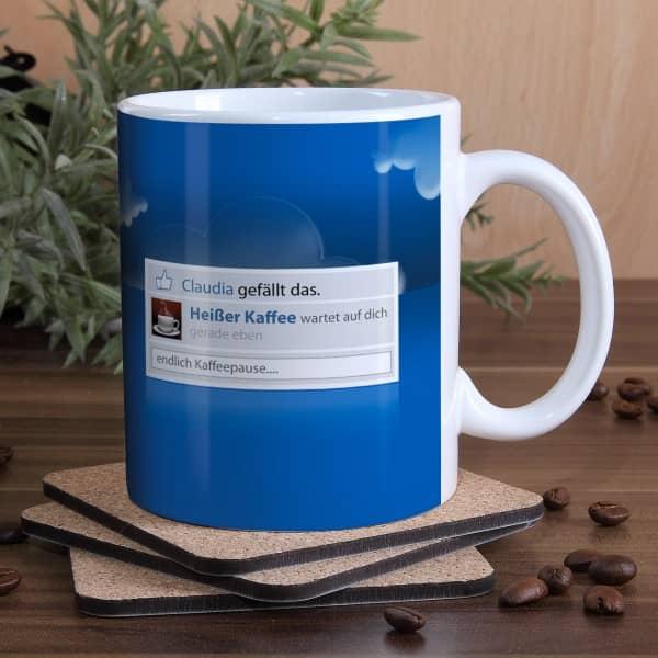 Tasse Kaffee Pause mit Namen