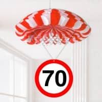 Partydekoration Fallschirm zum 70. Geburtstag