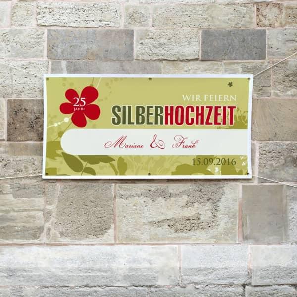 XXL Banner zur Silberhochzeit