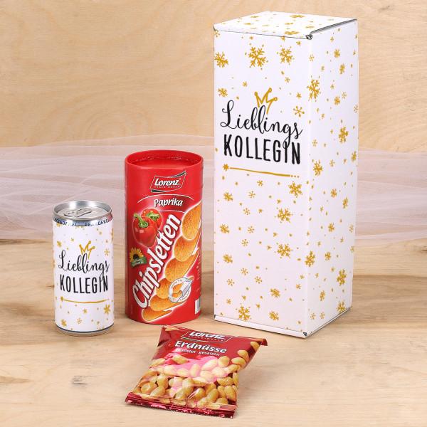 Geschenkset Lieblings... mit Secco, Erdnüssen und CHips in Verpackung
