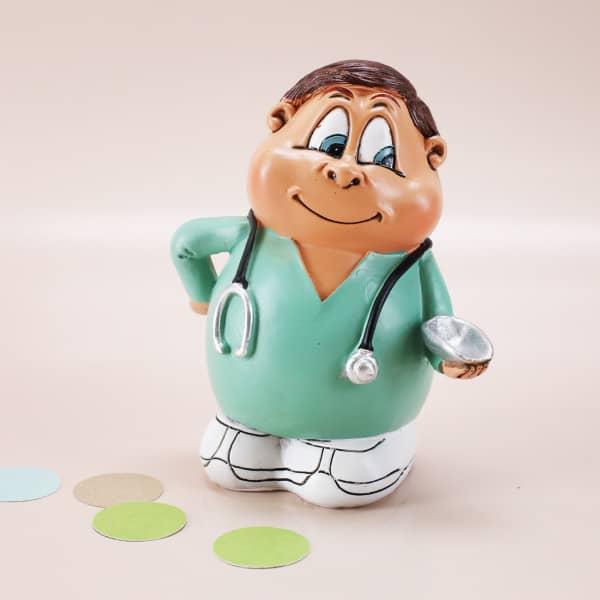 Krankenpfleger als Spardose