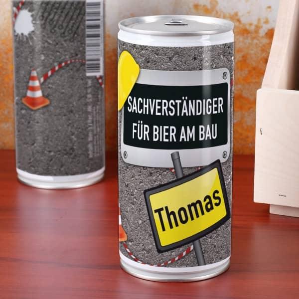 Bierdose - Sachverständiger für Bier am Bau -