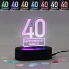 Acryllampe zum 40. Geburtstag mit Name