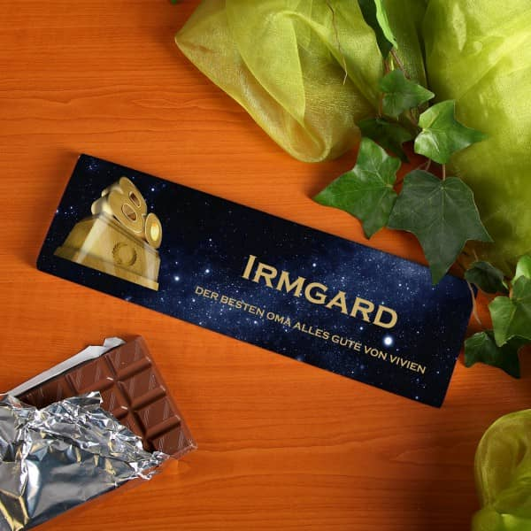 Persönliche Schokolade zum 80. Geburtstag