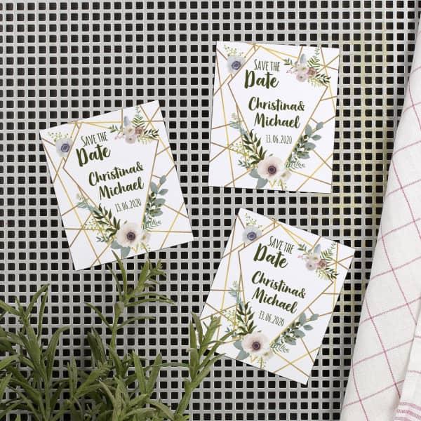 Save the Date Magneten zur Hochzeit
