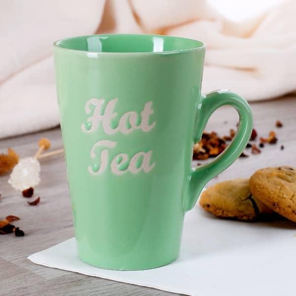 Origineller Tee - Becher in Grün