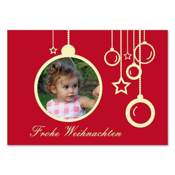 Weihnachtskarte mit Ihrem Foto