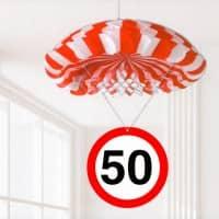 Partydekoration zum 50. Geburtstag - Fallschirm