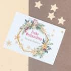 Postkarte zu Weihnachten mit Weihnachtskranz Motiv und Ihrem Wunschtext