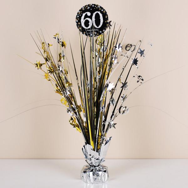 Tischdekoration zum 60. Geburtstag