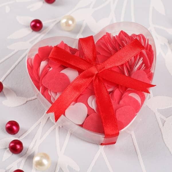 Badekonfetti Herzen in Rot und Weiß